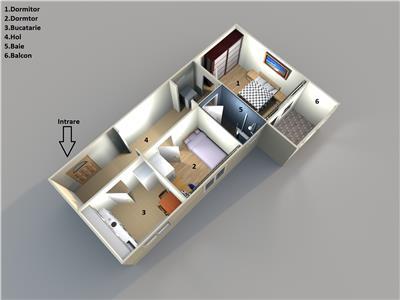 Brazda, Simplon, etaj 1, mobilat